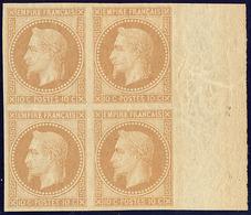 ** Rothschild. No 28Aa, Bloc De Quatre Bdf, Jolie Pièce. - TB - 1863-1870 Napoléon III. Laure