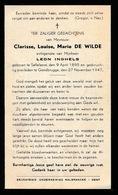 CLARISSE DE WILDE - ZAFFELARE 1895  GENTBRUGGE 1947 - Décès