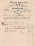 Facture Illustrée 9/11/1842 Marc RAYNAL Usine De Salvages Papiers  CASTRES Tarn Pour Gayet St Pons Hérault - 1800 – 1899