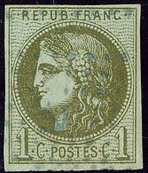 Oblitérations.Ancre Bleue. No 39II, Pos. 3, Petites Marges Mais TB - 1870 Emission De Bordeaux