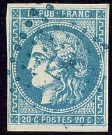 Oblitérations.Ancre Bleue.  No 46II. - TB - 1870 Emission De Bordeaux