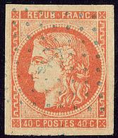 Oblitérations.Ancre Bleue.  No 48, Jolie Pièce. - TB - 1870 Emission De Bordeaux