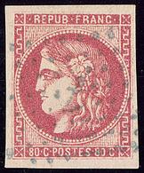Oblitérations.Ancre Bleue.  No 49a. - TB - 1870 Emission De Bordeaux