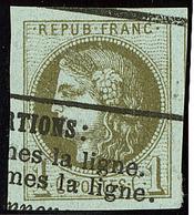 Oblitérations.Impression Typo. No 39III, Un Voisin + Grandes Marges, Superbe - 1870 Emission De Bordeaux