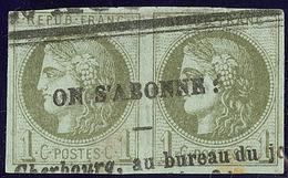 Oblitérations.Impression Typo. No 39IIIk, Paire. - TB - 1870 Emission De Bordeaux