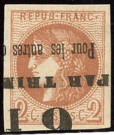 Oblitérations.Impression Typo. No 40II, Jolie Pièce. - TB - 1870 Emission De Bordeaux