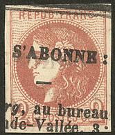 Oblitérations.Impression Typo. No 40II. - TB - 1870 Emission De Bordeaux