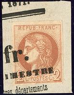 Oblitérations.Impression Typo. No 40II, Sur Petit Fragment, Jolie Pièce. - TB - 1870 Emission De Bordeaux