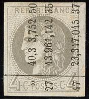 Oblitérations.Impression Typo. No 41II, Jolie Pièce. - TB - 1870 Emission De Bordeaux