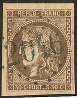 Oblitérations.gc Bleu. No 47, Obl Gc 2046, Jolie Pièce. - TB - 1870 Emission De Bordeaux