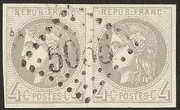 Oblitérations.Bureaux Français à L'étranger. No 41II, Paire Obl Gc 5055 Philippeville. - TB - 1870 Emission De Bordeaux