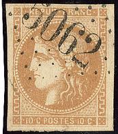 Oblitérations.Bureaux Français à L'étranger. No 43I, Obl Gc 5062 Sétif. - TB - 1870 Emission De Bordeaux