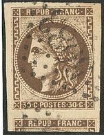 Oblitérations.Bureaux Français à L'étranger. No 47b, Un Voisin, Obl Gc 5083 Constantinople, Jolie Pièce. - TB - 1870 Emission De Bordeaux