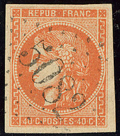 Oblitérations.Bureaux Français à L'étranger. No 48, Obl Gc 5082 Beyrouth, Ex Choisi. - TB - 1870 Emission De Bordeaux
