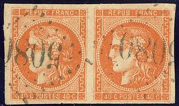 Oblitérations.Bureaux Français à L'étranger. No 48, Paire Obl Gc 5089. - TB - 1870 Emission De Bordeaux