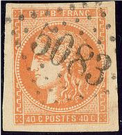 Oblitérations.Bureaux Français à L'étranger. No 48a, Orange Clair, Obl Gc 5083, Jolie Pièce. - TB - 1870 Emission De Bordeaux
