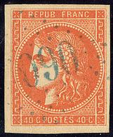 Oblitérations.Bureaux Français à L'étranger. No 48d, Orange Vif, Obl Gc 5080 Bleu Kerassunde, Très Frais. - TB - 1870 Emission De Bordeaux
