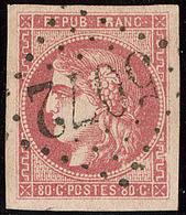 Oblitérations.Bureaux Français à L'étranger. No 49a, Obl Gc 5072 Tenez, Jolie Pièce. - TB. - R - 1870 Emission De Bordeaux