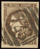 Oblitérations.Anglaises. No 47b, Brun Foncé, Obl Gc 723 De Southampton, Léger Pelurage Mais TB D'aspect - 1870 Emission De Bordeaux