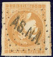 """Oblitérations.""""AS.NA"""". No 43II, Un Voisin, Superbe. - R (cote Maury 2009) - 1870 Emission De Bordeaux"""