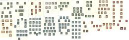 Collection. 1870 (Poste), Entre Les N°39 Et 49, Doubles Et Multiples, Nuances Et Obi Diverses Dont Paire, Bande De Trois - 1870 Emission De Bordeaux