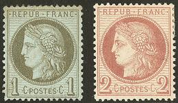 * Nos 50 (gomme Altérée), 51. - TB - 1871-1875 Cérès