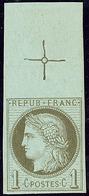 ** Non Dentelé. No 50c, Bdf Avec Croix De Repère. - TB - 1871-1875 Cérès
