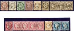 Nos 51 à 55, 56 (4), 57 (5), 59, 60A, 60C, Ex Choisis. - TB - 1871-1875 Cérès