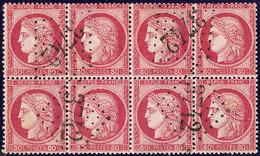 No 57, Bloc De Huit Obl Gc 3742. - TB - 1871-1875 Cérès