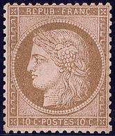* No 58, Brun Sur Rose, Gomme Altérée Mais Très Frais Et TB - 1871-1875 Cérès