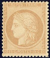 * No 59, Bistre, Quasiment **, Très Frais. - TB - 1871-1875 Cérès