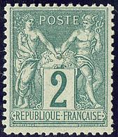 ** No 74, Vert. - TB - 1876-1878 Sage (Type I)