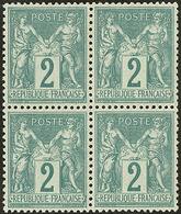** No 74, Bloc De Quatre, Très Frais Et Bien Centré. - TB - 1876-1878 Sage (Type I)