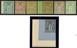 ** Nos 74 Bdf, 80, 83 Cdf, 96, 96a Bdf, 105, 106, Très Frais. - TB - 1876-1878 Sage (Type I)