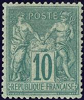 * No 76, Vert, Très Frais. - TB - 1876-1878 Sage (Type I)