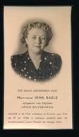 IRMA BAELE -  KNOKKE AAN ZEE 1956 - Décès