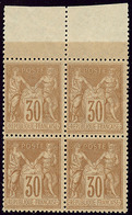 ** No 80, Brun-jaune, Bloc De Quatre, Très Frais Et Centré. - TB - 1876-1878 Sage (Type I)