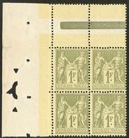 ** No 82, Bloc De Quatre Cdf, Décentré Mais Très Frais Et TB - 1876-1878 Sage (Type I)