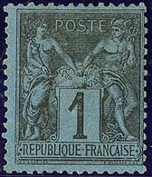 * Bleu De Prusse. No 84, Centrage Courant Mais Belle Nuance Et Très Frais. - TB. - RR - 1876-1878 Sage (Type I)