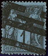 Bleu De Prusse. No 84, Impression Typographique Des Journaux, Très Jolie Pièce. - TB. - RR - 1876-1878 Sage (Type I)