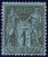 Bleu De Prusse. No 84, Obl Cad 22 Sept 80, Jolie Pièce. - TB. - R - 1876-1878 Sage (Type I)