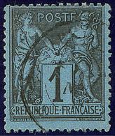 Bleu De Prusse. No 84, Obl Cad. - TB. - R - 1876-1878 Sage (Type I)