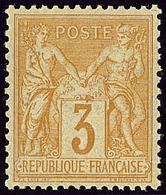 ** No 86, Bistre Sur Jaune, Très Frais. - TB - 1876-1878 Sage (Type I)
