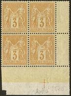 ** No 86, Bloc De Quatre Cdf, Infimes Points De Rousseur Au Verso Mais TB - 1876-1878 Sage (Type I)