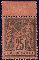 * No 91, Noir Sur Rouge, Bdf, Quasiment **, Superbe. - R - 1876-1878 Sage (Type I)