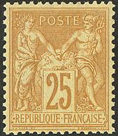** No 92, Bistre Sur Jaune, Très Frais Et Centré. - TB - 1876-1878 Sage (Type I)