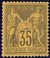 * No 93, Quasiment **, Très Frais. - TB - 1876-1878 Sage (Type I)