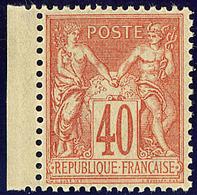 ** No 94, Rouge-orange, Bdf, Très Frais. - TB - 1876-1878 Sage (Type I)