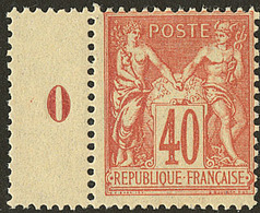 ** No 94, Bdf Avec Mill. 0, Centrage Courant Mais Très Frais Et TB - 1876-1878 Sage (Type I)