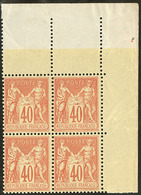 ** No 94, Bloc De Quatre Cdf, Très Frais. - TB - 1876-1878 Sage (Type I)